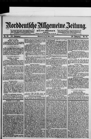 Norddeutsche allgemeine Zeitung vom 11.03.1914