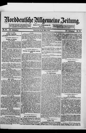Norddeutsche allgemeine Zeitung vom 12.03.1914