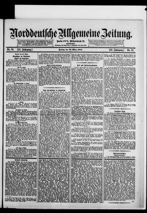 Norddeutsche allgemeine Zeitung vom 13.03.1914