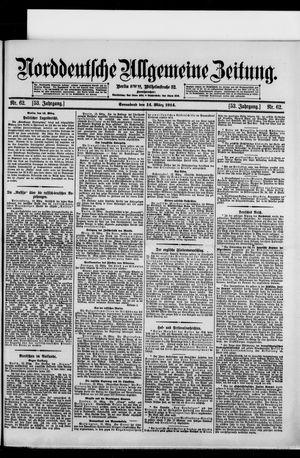 Norddeutsche allgemeine Zeitung vom 14.03.1914