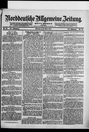 Norddeutsche allgemeine Zeitung vom 18.03.1914