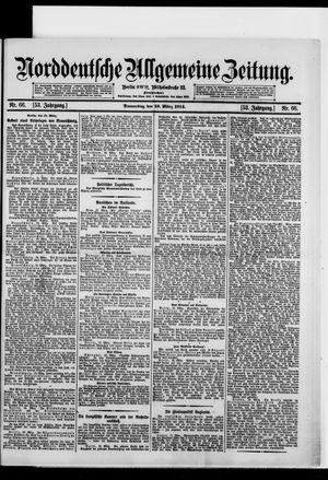 Norddeutsche allgemeine Zeitung vom 19.03.1914