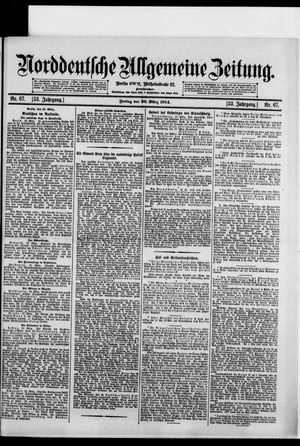 Norddeutsche allgemeine Zeitung vom 20.03.1914
