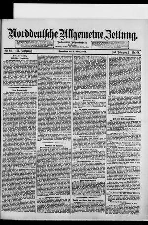 Norddeutsche allgemeine Zeitung on Mar 21, 1914