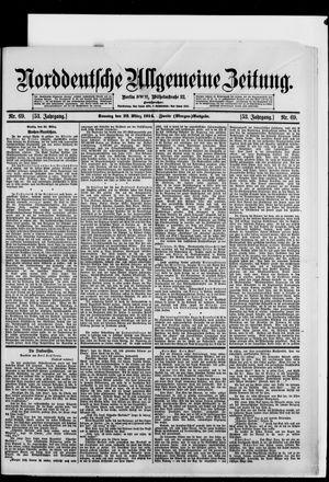 Norddeutsche allgemeine Zeitung vom 22.03.1914