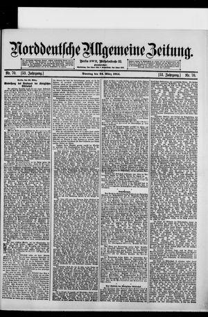 Norddeutsche allgemeine Zeitung vom 24.03.1914