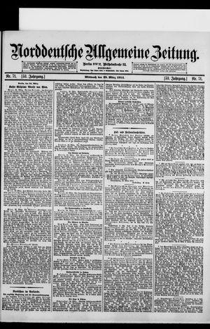 Norddeutsche allgemeine Zeitung vom 25.03.1914
