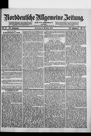 Norddeutsche allgemeine Zeitung vom 26.03.1914