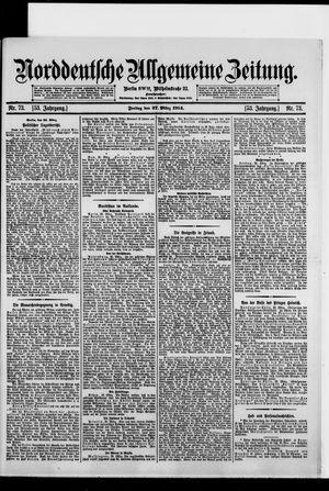 Norddeutsche allgemeine Zeitung vom 27.03.1914