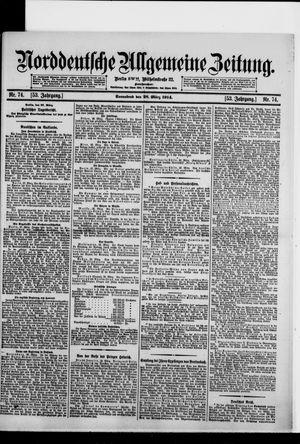 Norddeutsche allgemeine Zeitung vom 28.03.1914