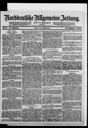 Norddeutsche allgemeine Zeitung vom 04.04.1914