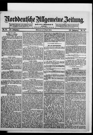 Norddeutsche allgemeine Zeitung vom 08.04.1914