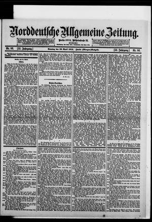 Norddeutsche allgemeine Zeitung vom 12.04.1914