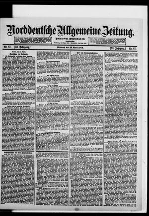 Norddeutsche allgemeine Zeitung vom 15.04.1914