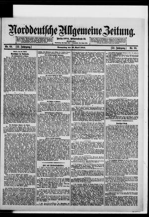 Norddeutsche allgemeine Zeitung vom 16.04.1914