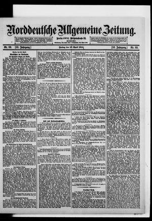 Norddeutsche allgemeine Zeitung vom 17.04.1914