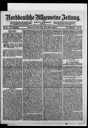 Norddeutsche allgemeine Zeitung vom 19.04.1914
