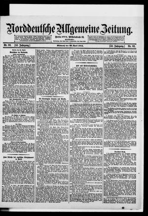 Norddeutsche allgemeine Zeitung vom 22.04.1914