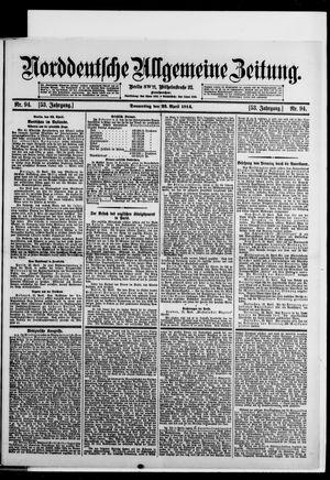 Norddeutsche allgemeine Zeitung vom 23.04.1914