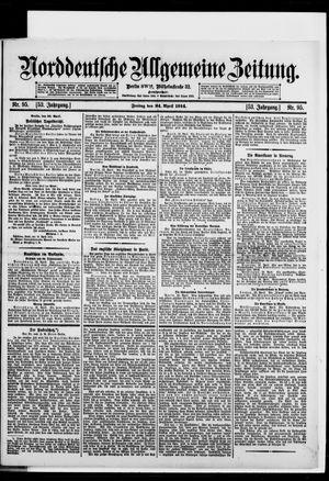 Norddeutsche allgemeine Zeitung vom 24.04.1914
