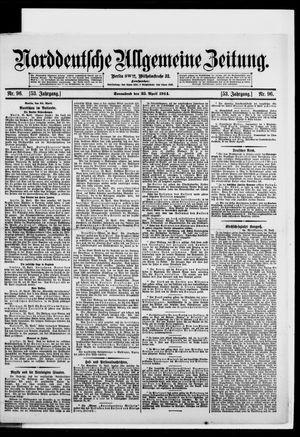 Norddeutsche allgemeine Zeitung vom 25.04.1914
