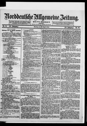 Norddeutsche allgemeine Zeitung vom 28.04.1914
