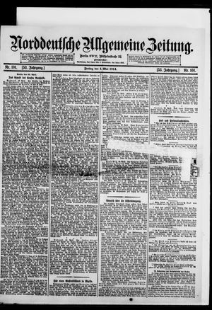 Norddeutsche allgemeine Zeitung vom 01.05.1914