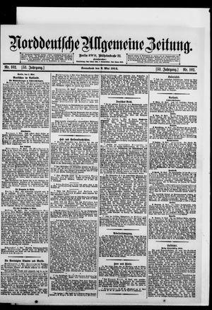 Norddeutsche allgemeine Zeitung vom 02.05.1914