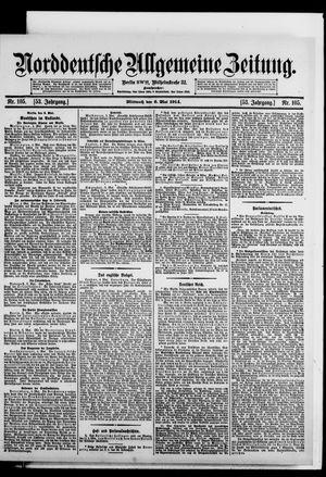 Norddeutsche allgemeine Zeitung vom 06.05.1914