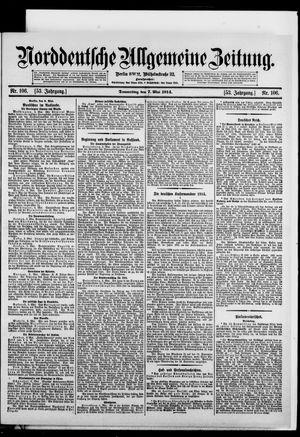 Norddeutsche allgemeine Zeitung vom 07.05.1914