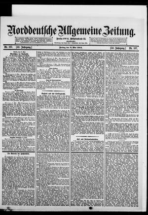 Norddeutsche allgemeine Zeitung vom 08.05.1914