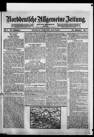 Norddeutsche allgemeine Zeitung vom 07.01.1915