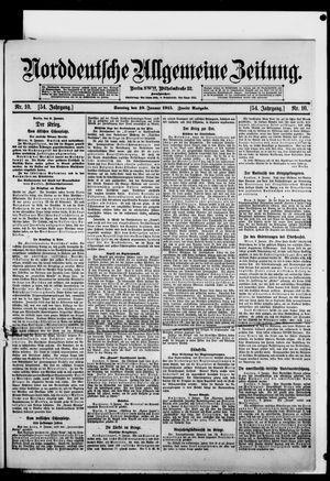 Norddeutsche allgemeine Zeitung vom 10.01.1915