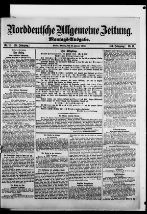 Norddeutsche allgemeine Zeitung vom 11.01.1915