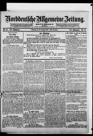 Norddeutsche allgemeine Zeitung vom 12.01.1915