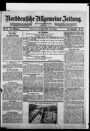 Norddeutsche allgemeine Zeitung vom 14.01.1915