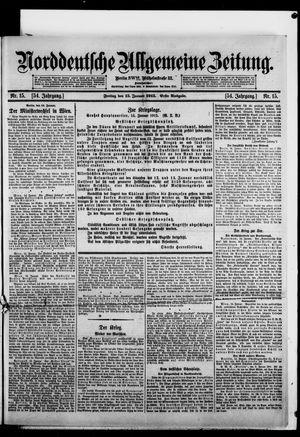 Norddeutsche allgemeine Zeitung vom 15.01.1915