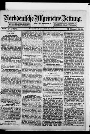 Norddeutsche allgemeine Zeitung vom 16.01.1915