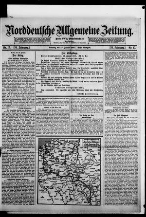 Norddeutsche allgemeine Zeitung vom 17.01.1915