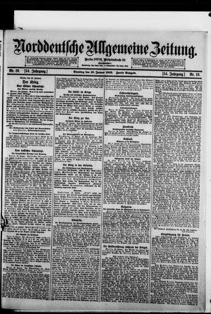 Norddeutsche allgemeine Zeitung vom 19.01.1915