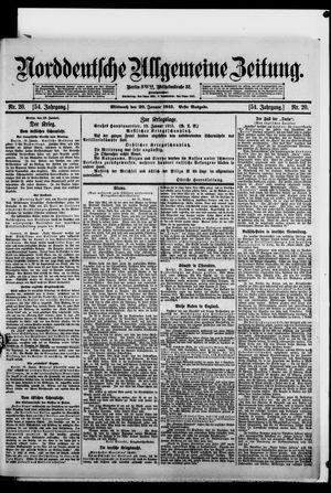 Norddeutsche allgemeine Zeitung vom 20.01.1915