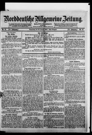 Norddeutsche allgemeine Zeitung vom 21.01.1915
