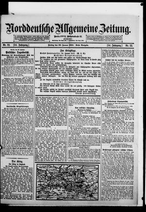 Norddeutsche allgemeine Zeitung vom 22.01.1915