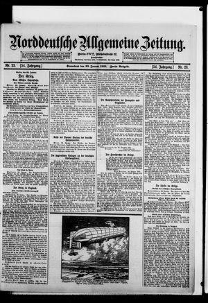 Norddeutsche allgemeine Zeitung on Jan 23, 1915