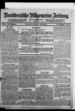 Norddeutsche allgemeine Zeitung vom 24.01.1915