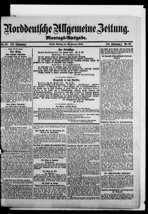 Norddeutsche allgemeine Zeitung vom 25.01.1915