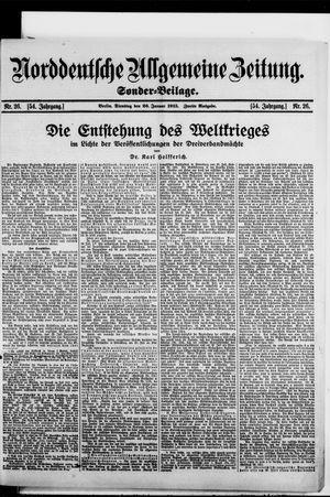 Norddeutsche allgemeine Zeitung vom 26.01.1915
