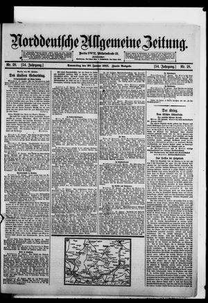 Norddeutsche allgemeine Zeitung vom 28.01.1915