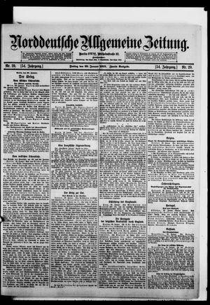 Norddeutsche allgemeine Zeitung vom 29.01.1915