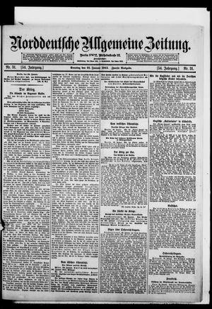 Norddeutsche allgemeine Zeitung vom 31.01.1915